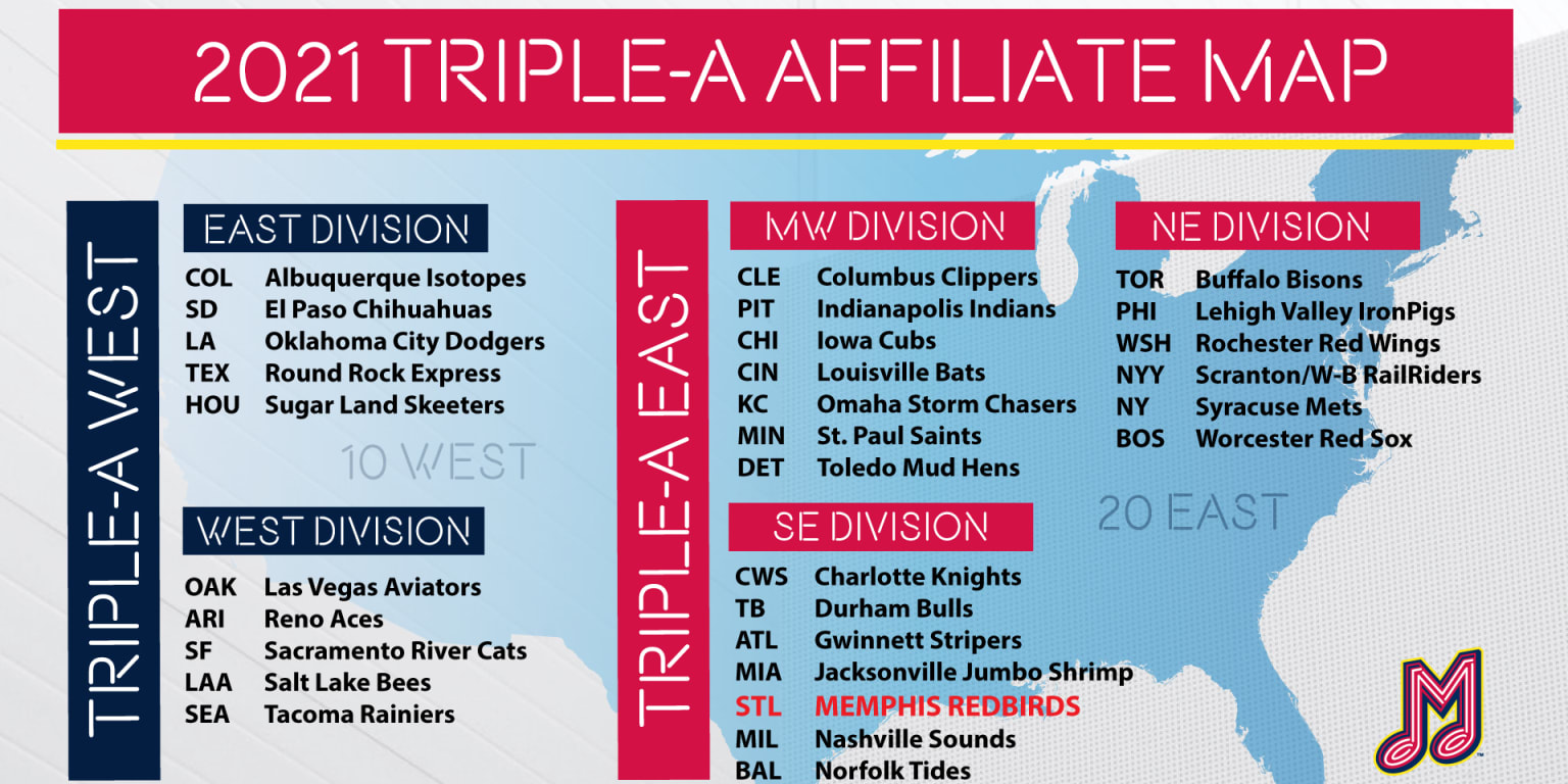 Mlb Announces Minor League Baseball Teams Redbirds