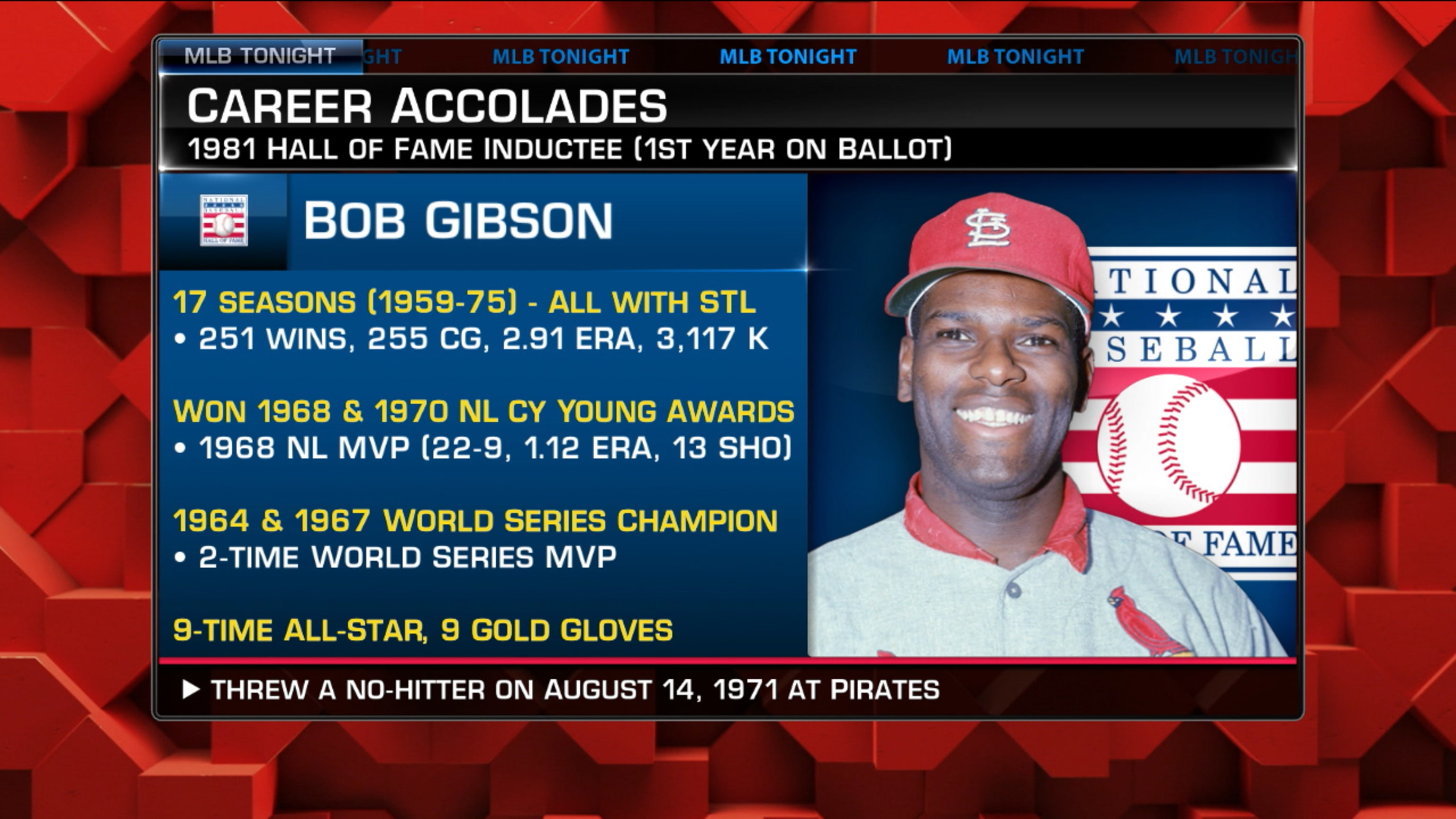 MLB Tonight remembers Bob Gibson