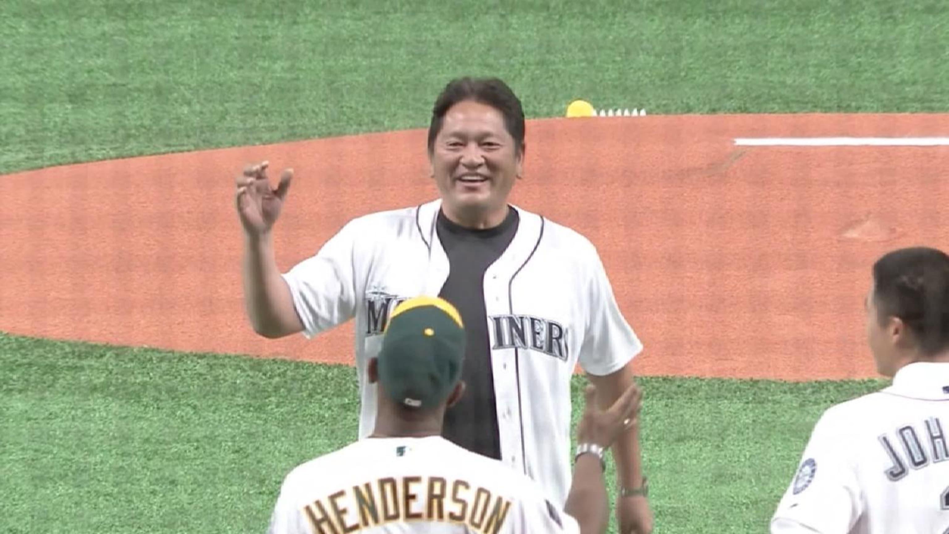 Sasaki's first pitch