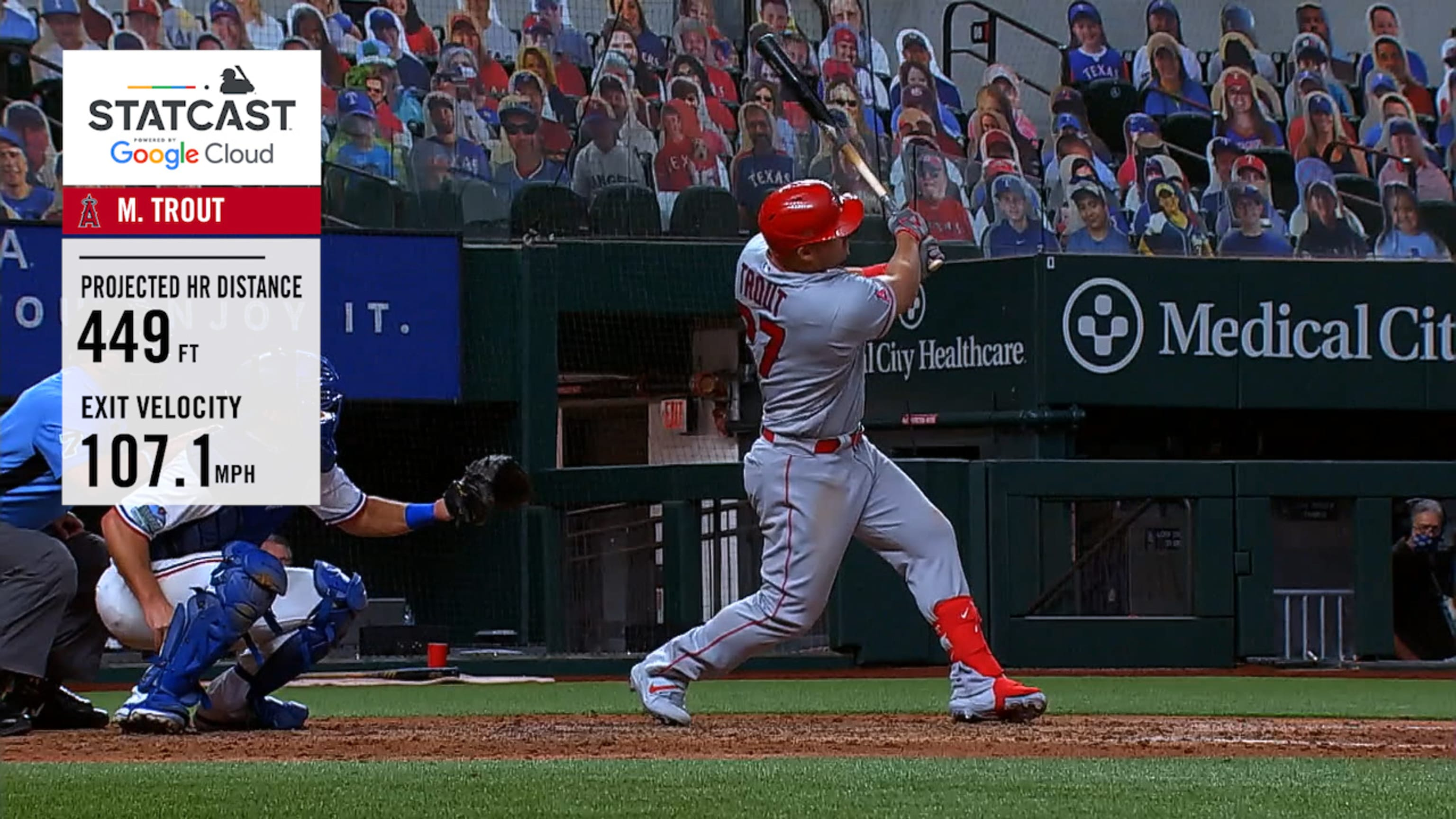 Mike Trout's 449-ft. home run