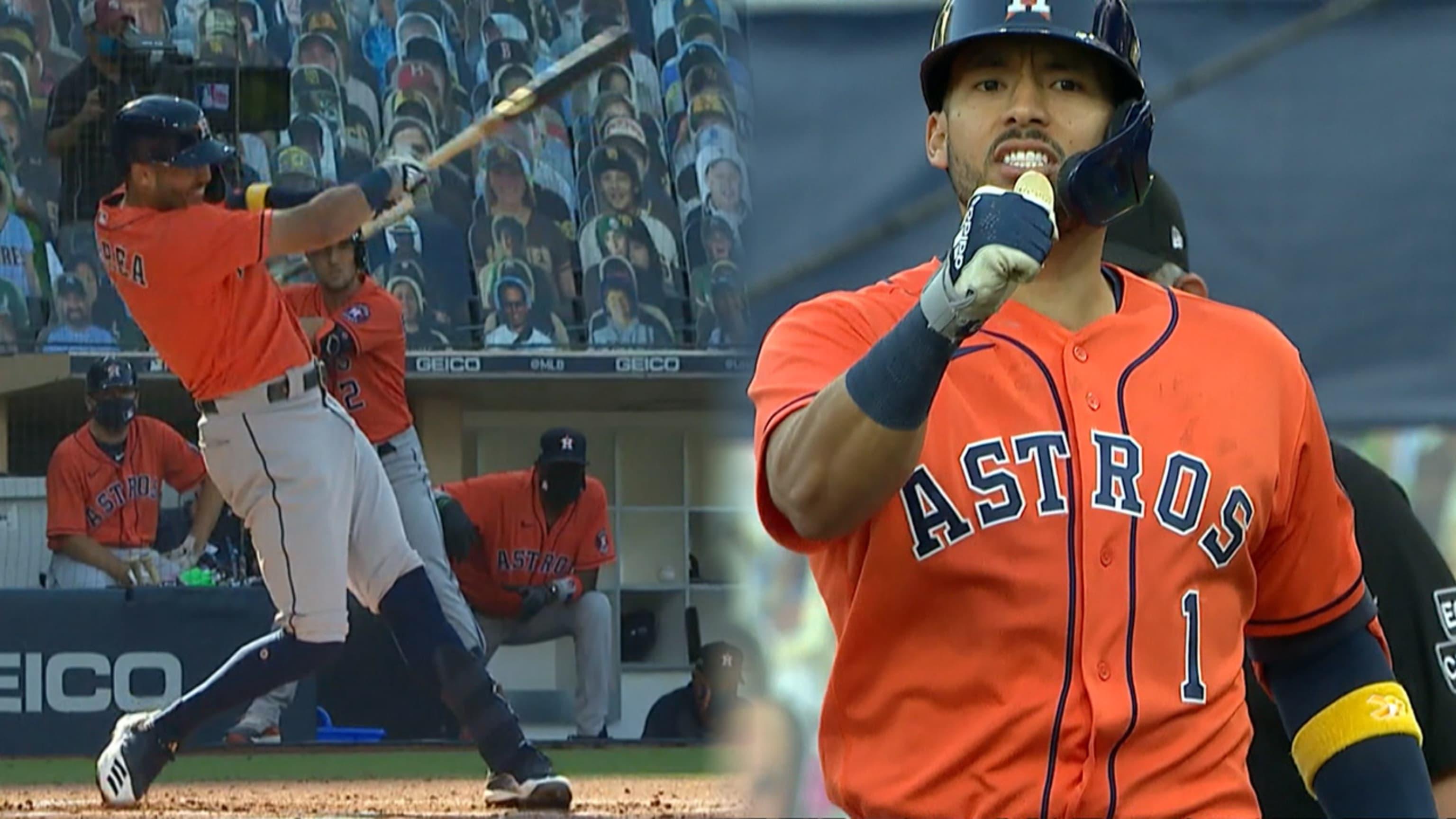 Correa batea tres hits