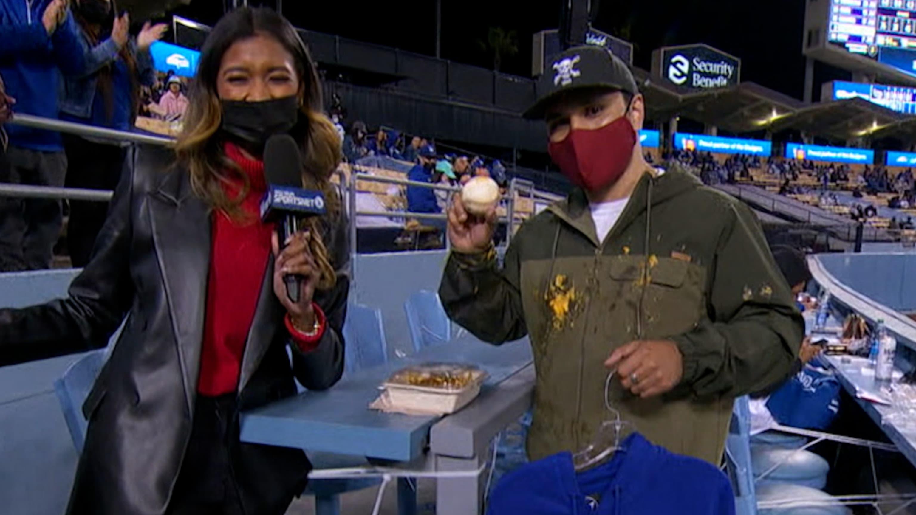Fan de Dodgers pierde sus nachos