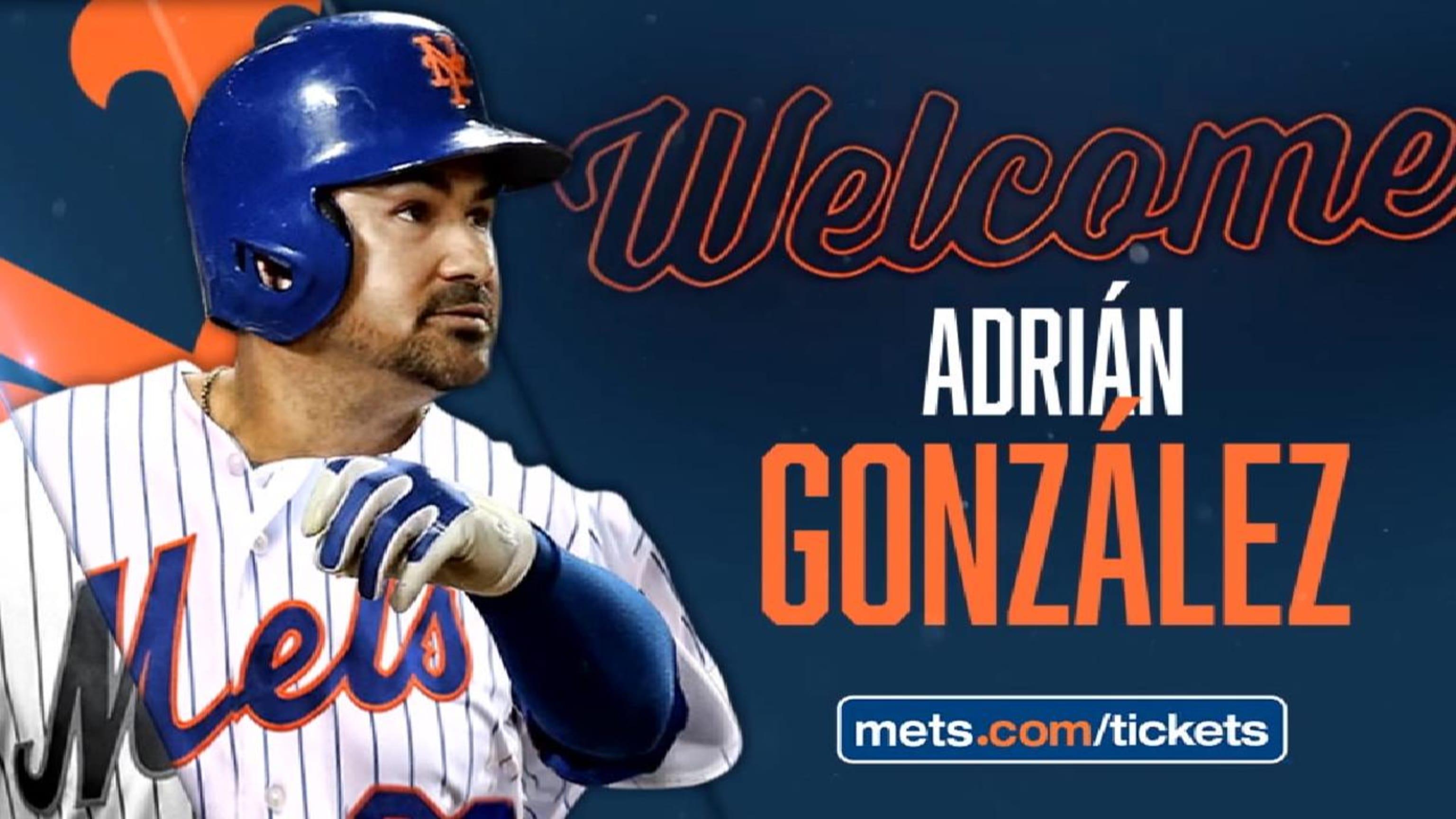 Adrian Gonzalez New York Mets Baseball Player Jersey