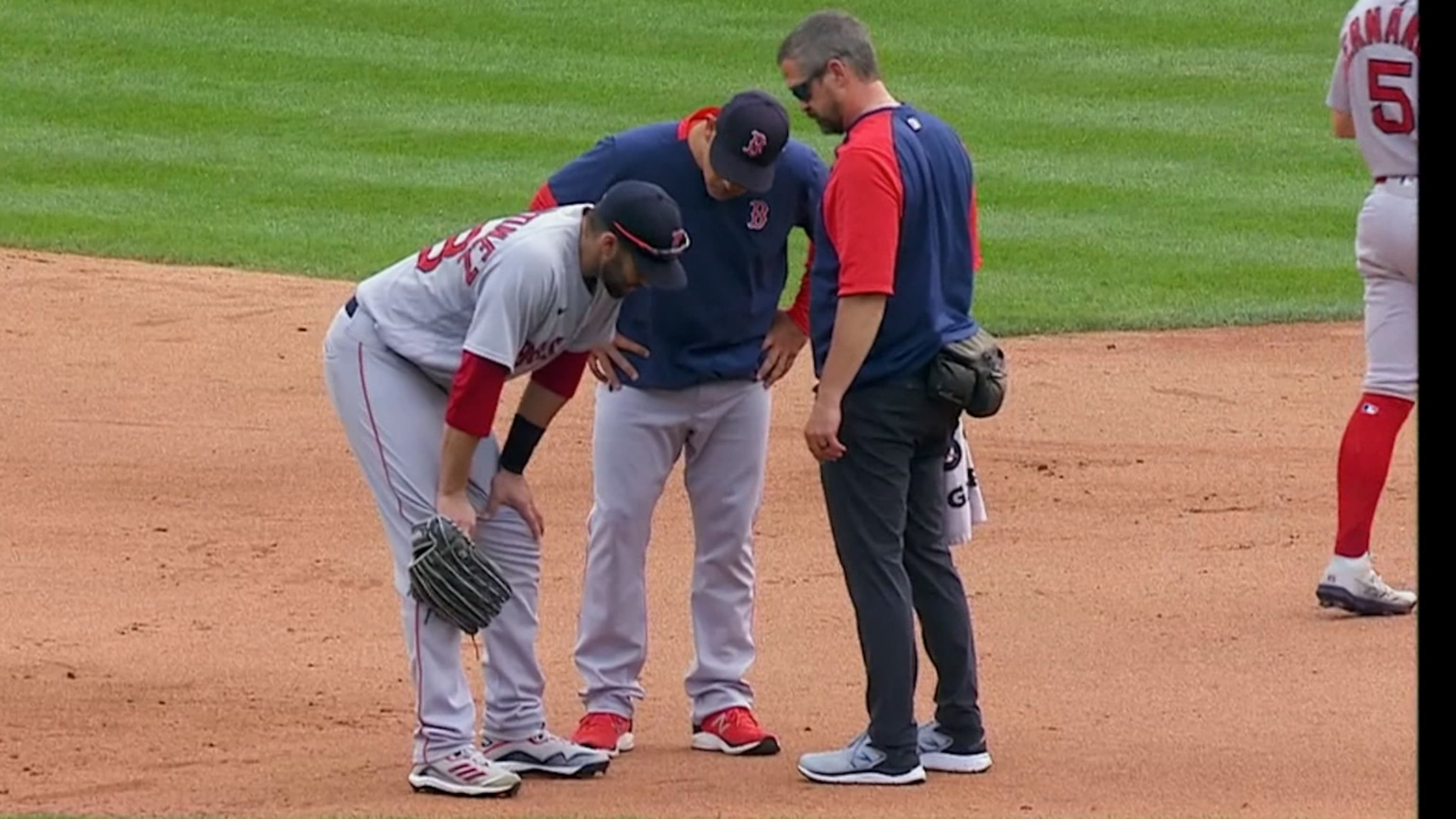 J.D. Martinez exits after the 5th
