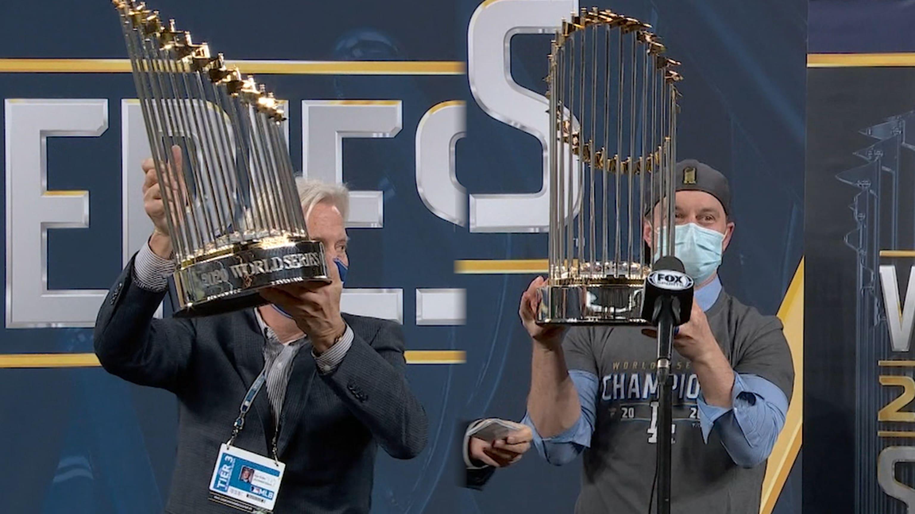 Dodgers accept 2020 WS trophy