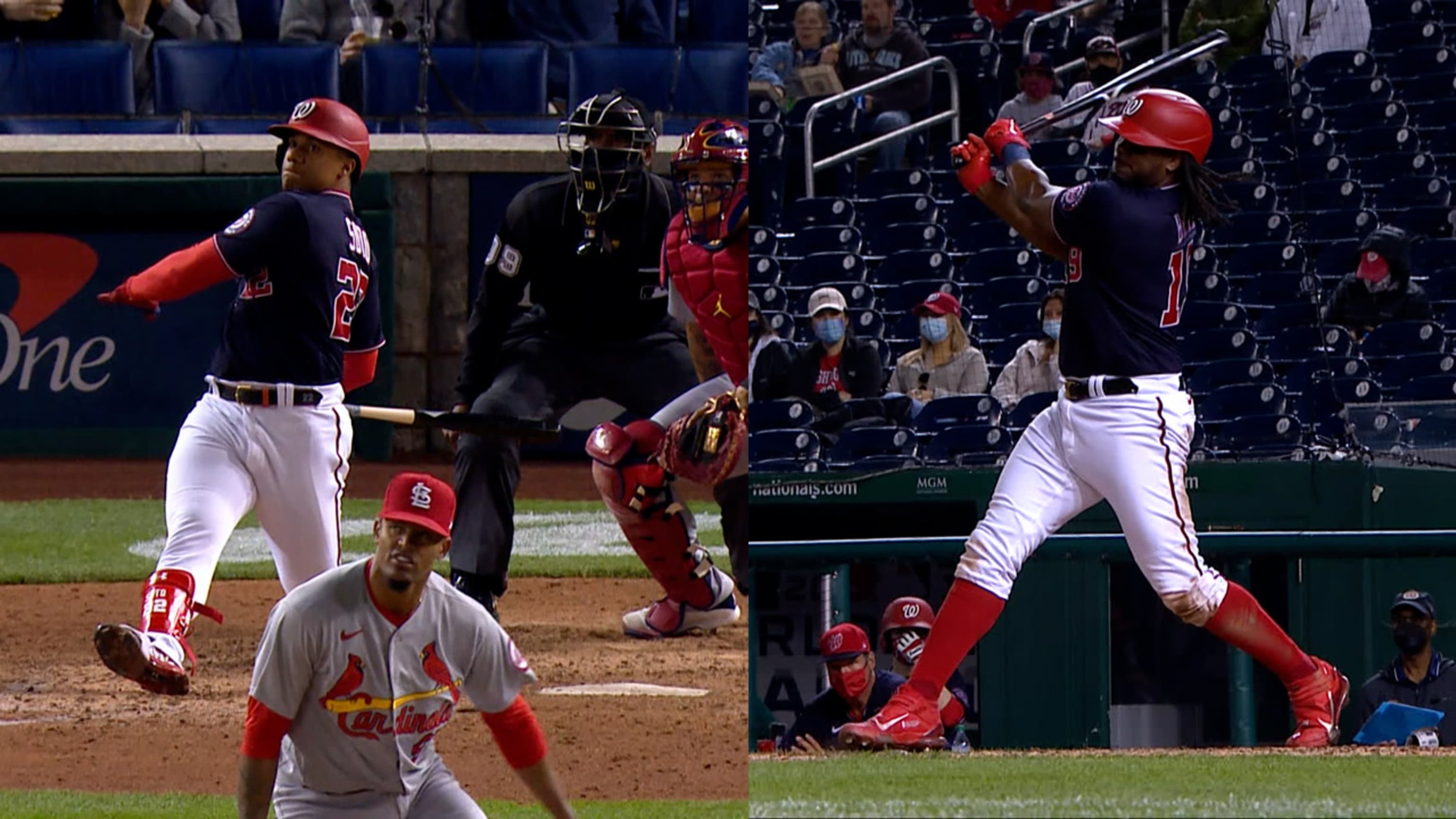 Juan Soto and Josh Bell's doubles