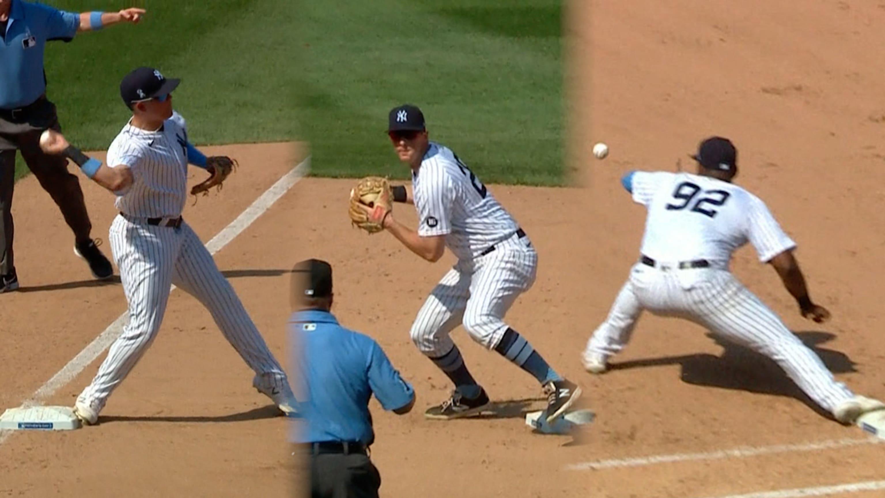 Yankees registran triple play