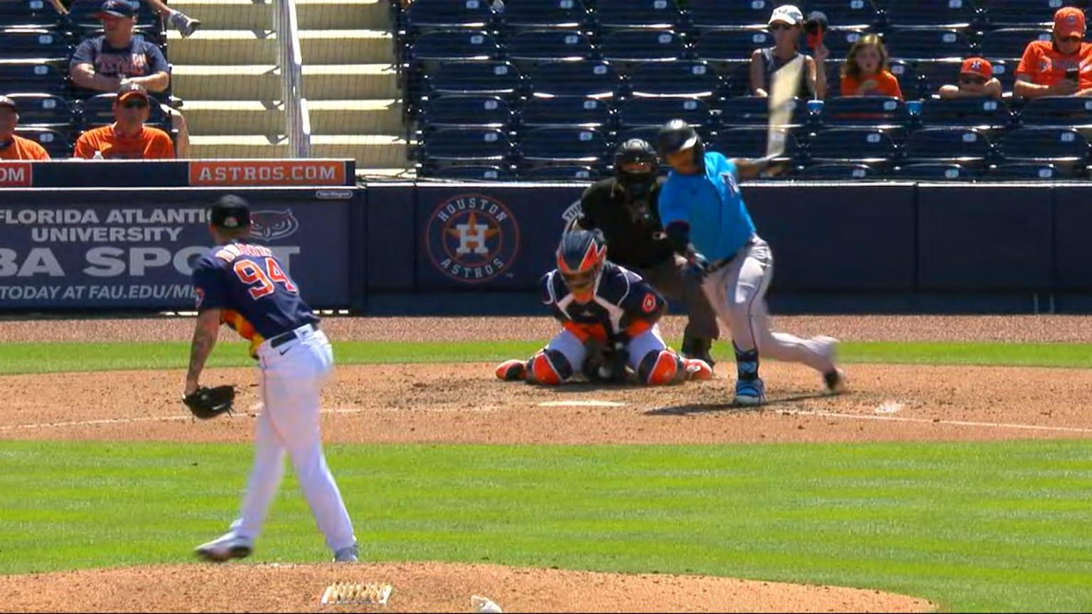 Hunter Brown's first career K | 03/15/2021 | Houston Astros