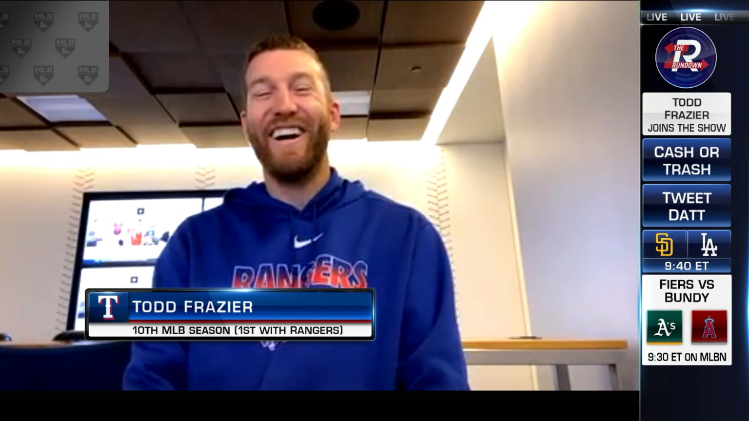 Todd Frazier joins The Rundown | 08/11/2020