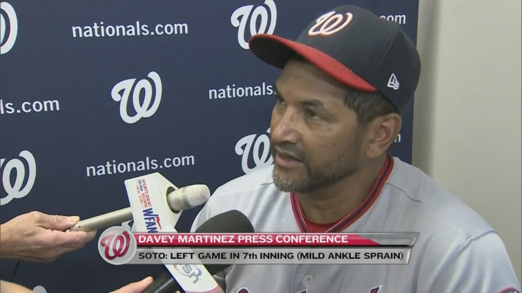 Juan Soto ankle X-rays negative, day to day for Nats