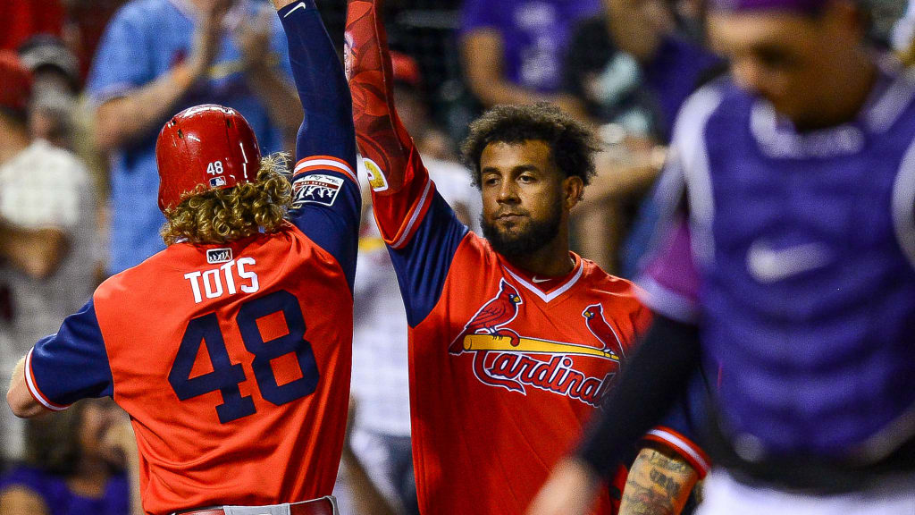 eec3589f This adorable young fan gave Harrison Bader a tater tot in the ...