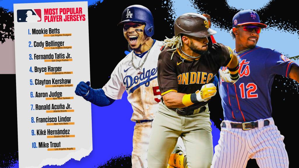 Most popular MLB jerseys entering 2021