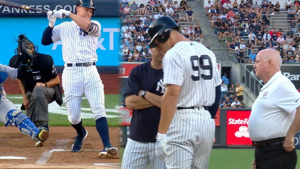 Aaron Judge fractures wrist on hit by pitch | MLB com