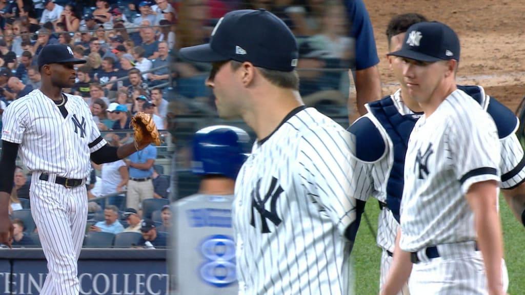 German stifles Jays as Yankees win in return from break