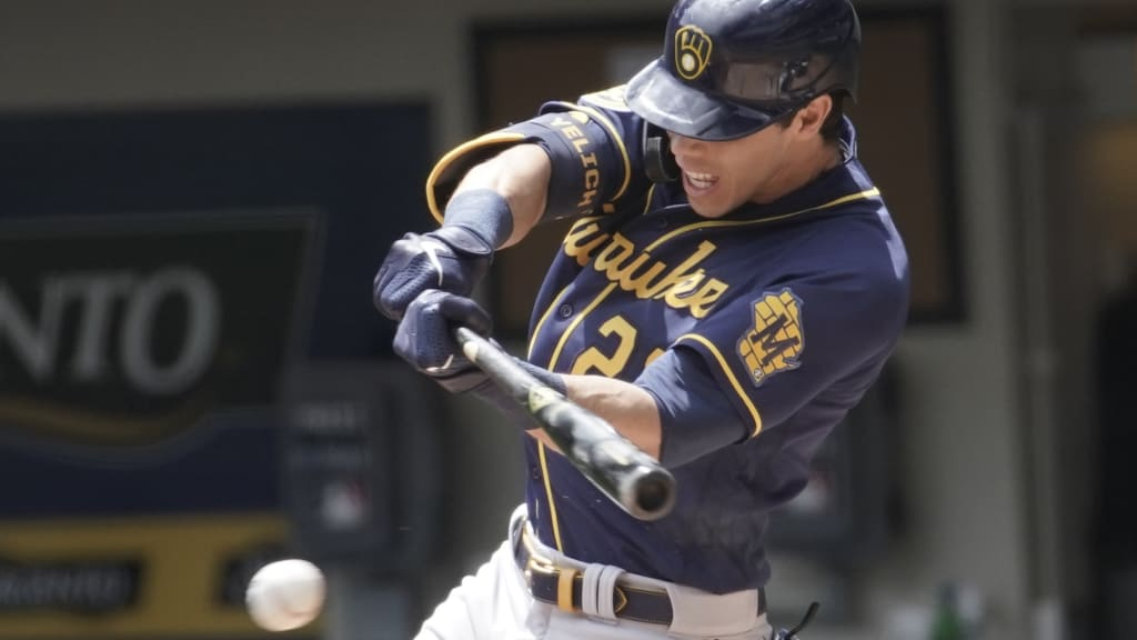 Christian Yelich striking out in Summer Camp