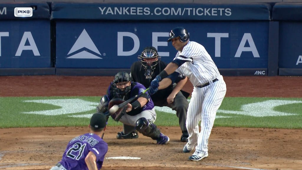 Edwin's 12th career slam sends Yanks past Rockies