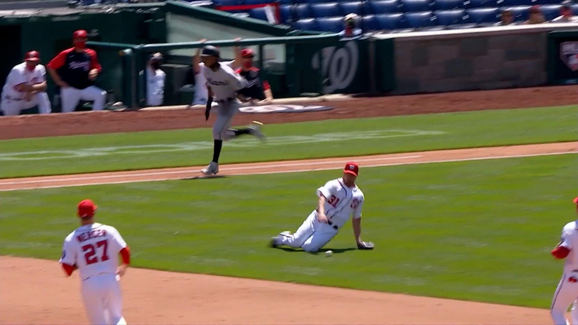 Devers' first Major League hit