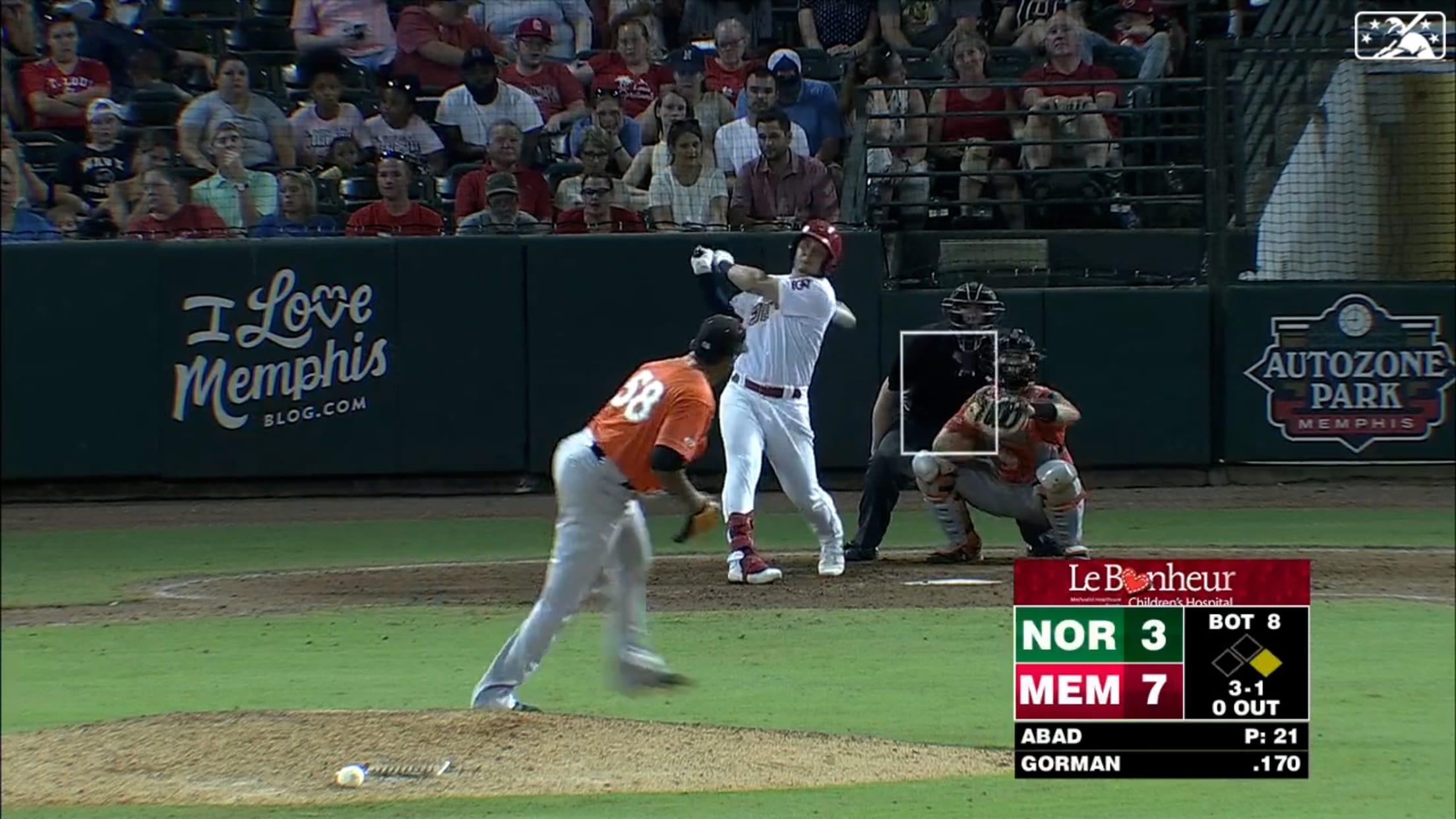 Gorman's 2-run homer for Memphis