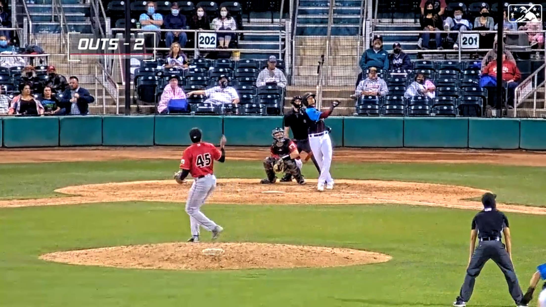 Marte hits eighth homer