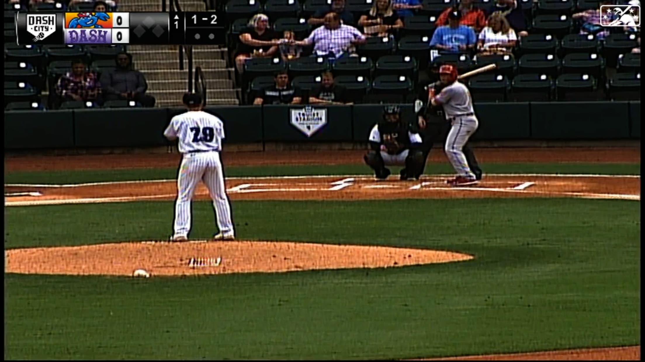 Horn K's 5 in 3 no-hit innings