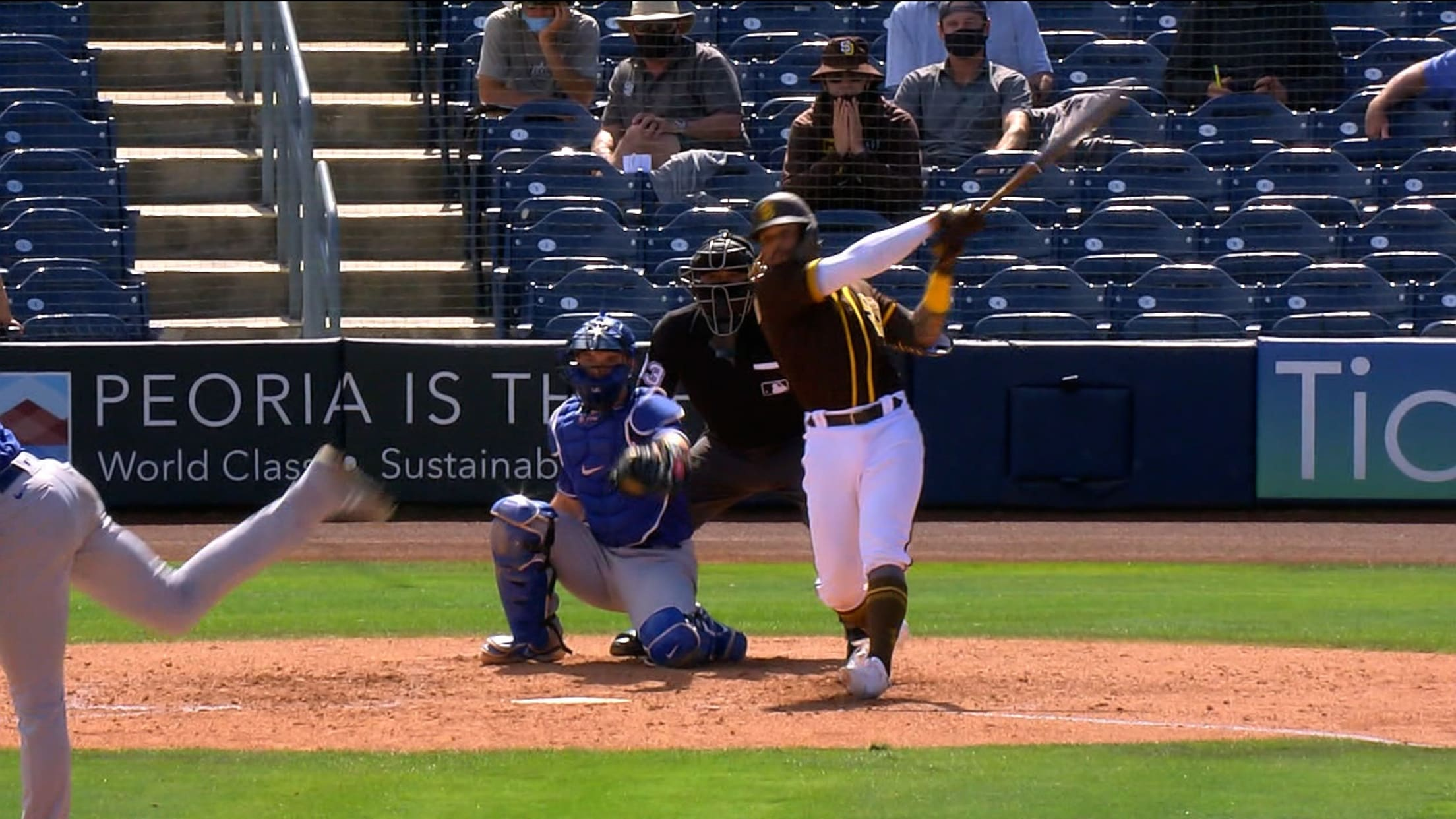 Luis Campusano's hard-hit double
