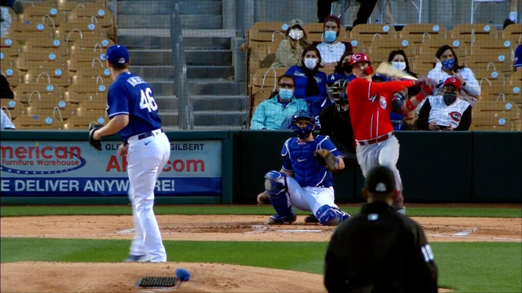Tyler Stephenson's 1st spring hit