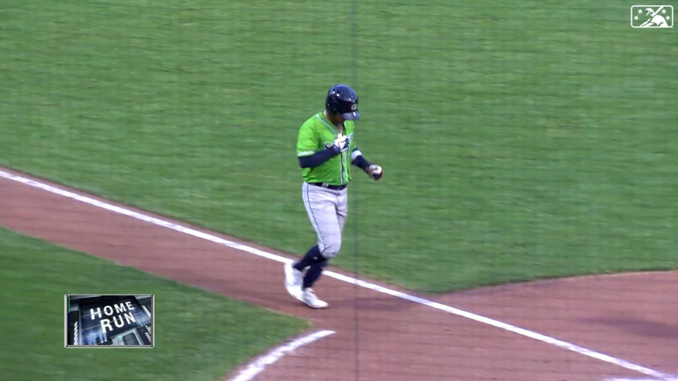 Pache hits 10th homer