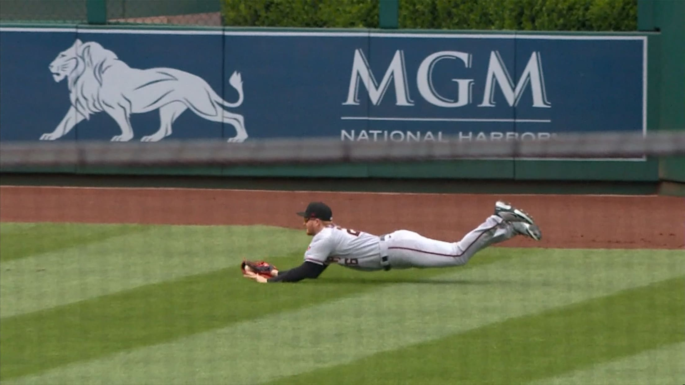Pavin Smith's diving catch