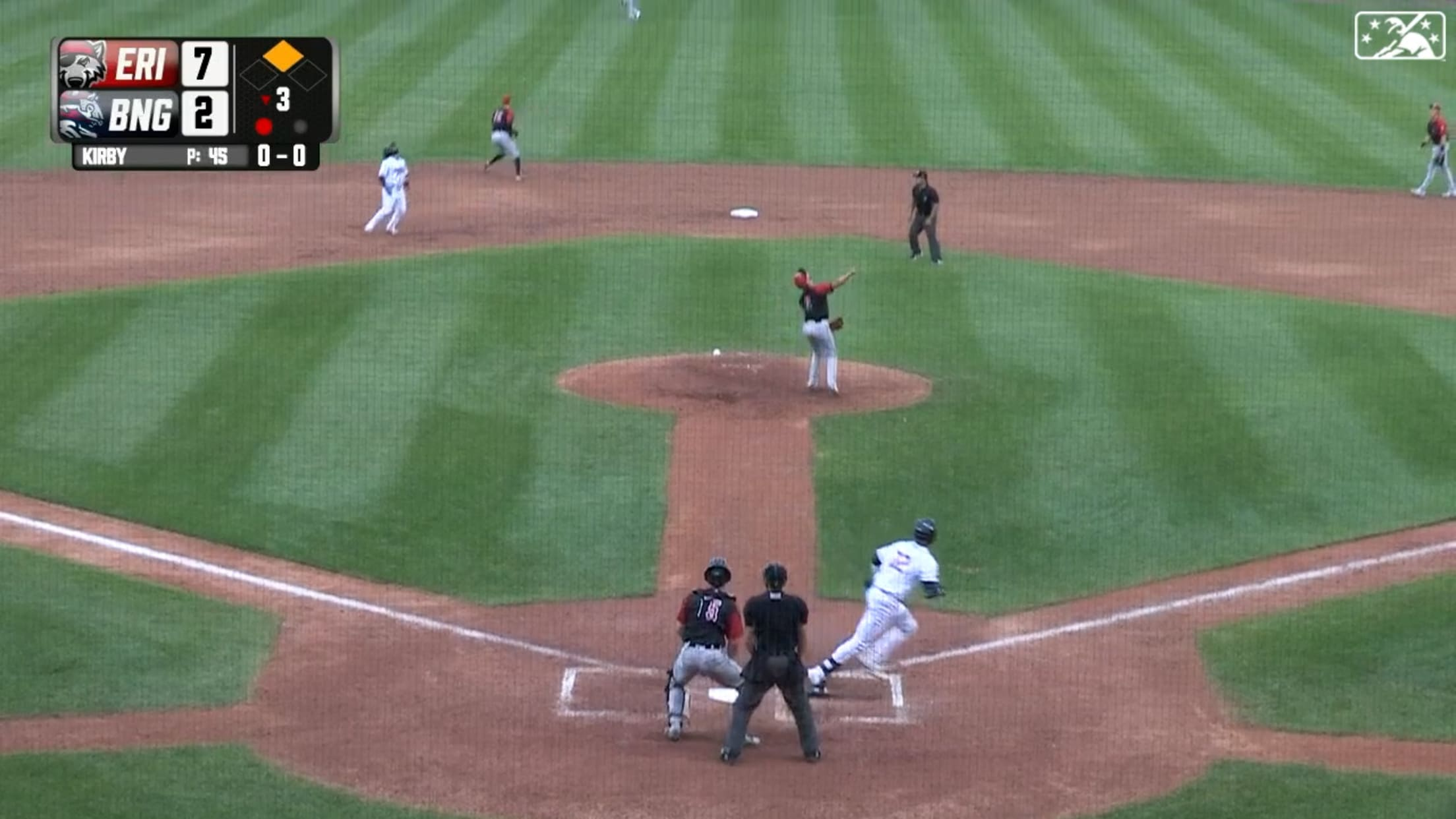 Baty clubs first Double-A homer