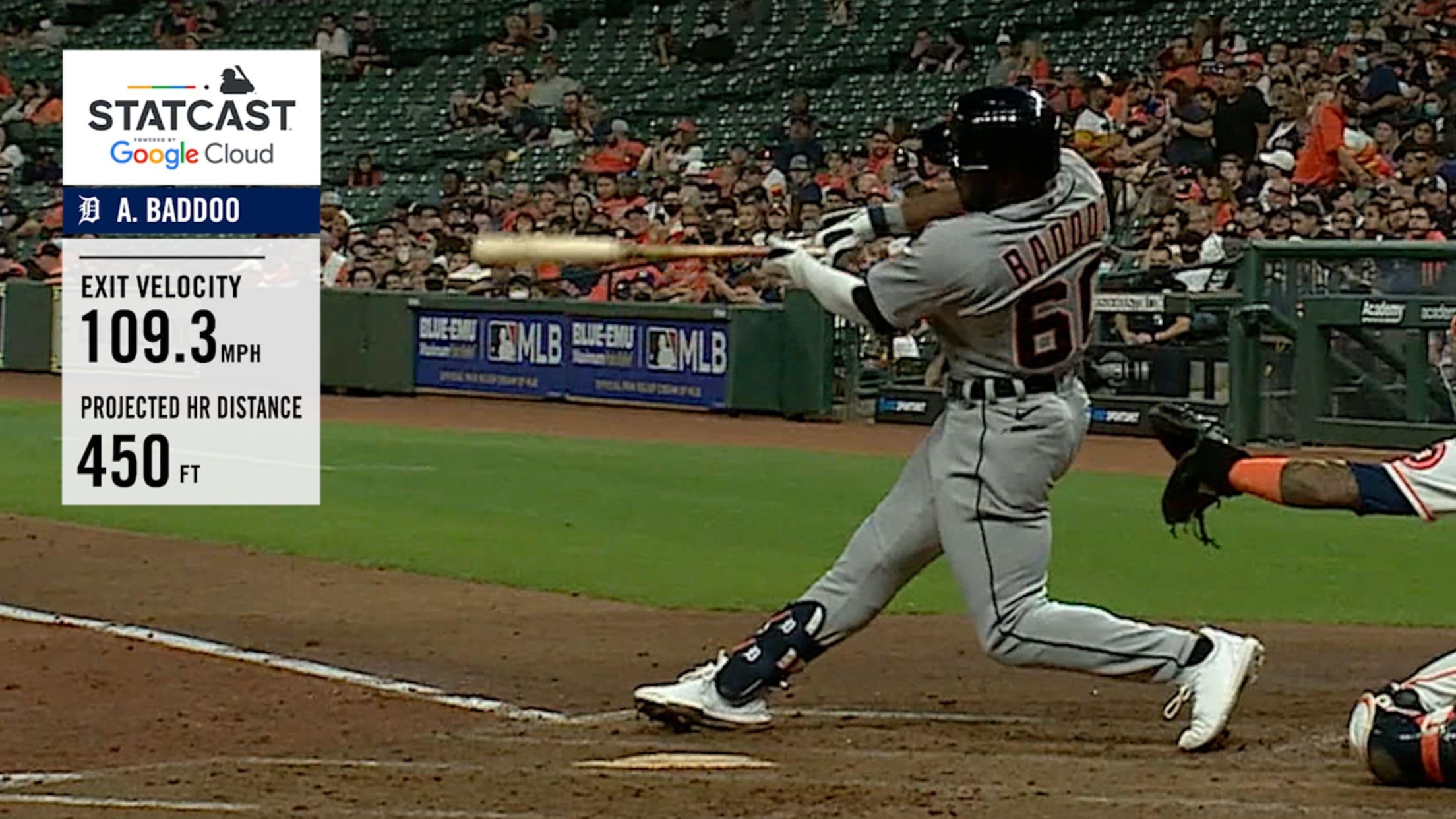 Akil Baddoo's 450-foot home run