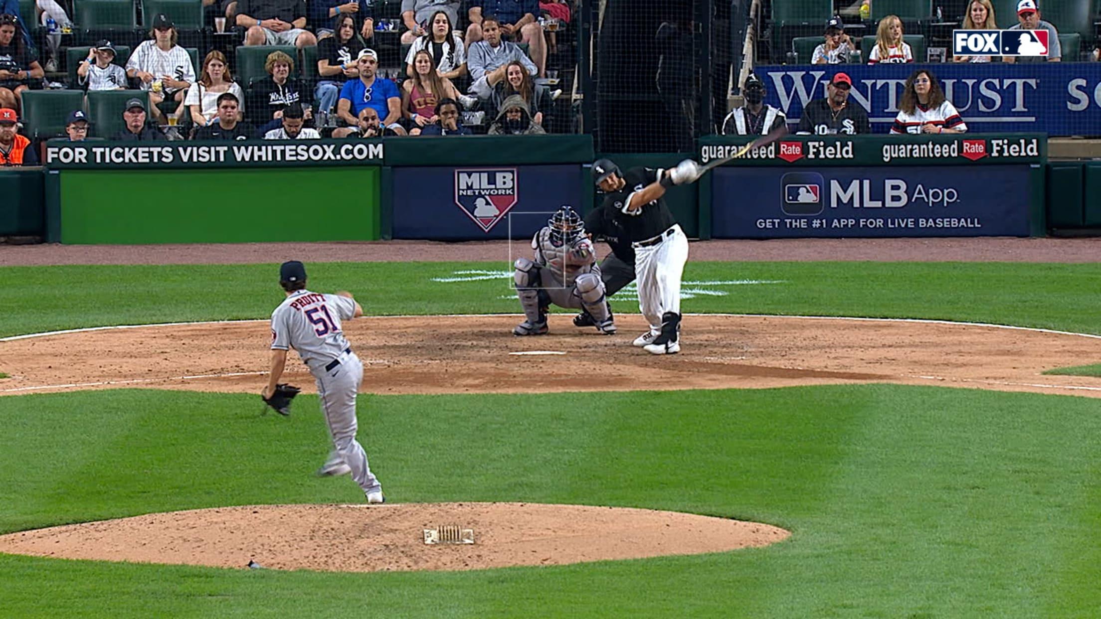 Jake Burger's first MLB homer