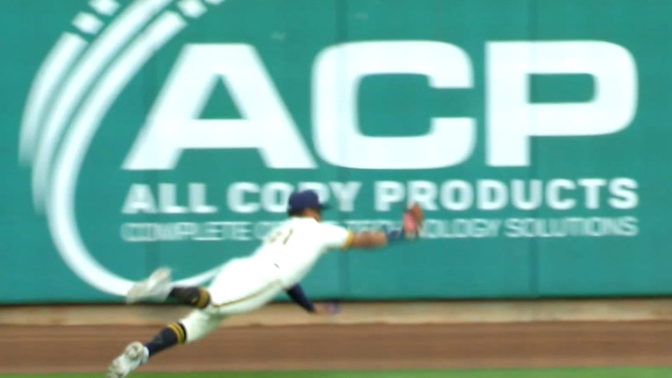 Hedbert Perez's diving catch