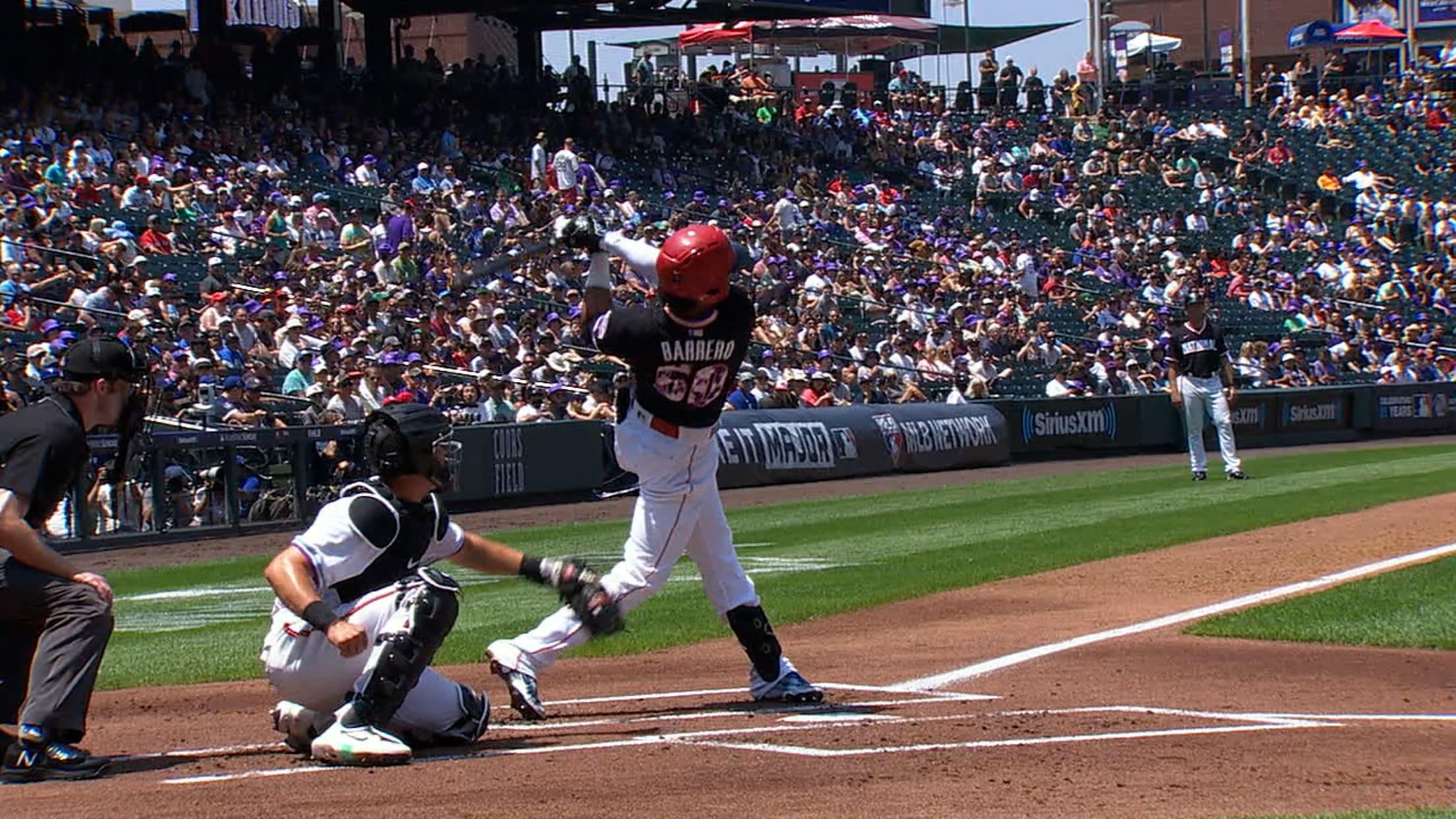 Jose Barrero's solo home run