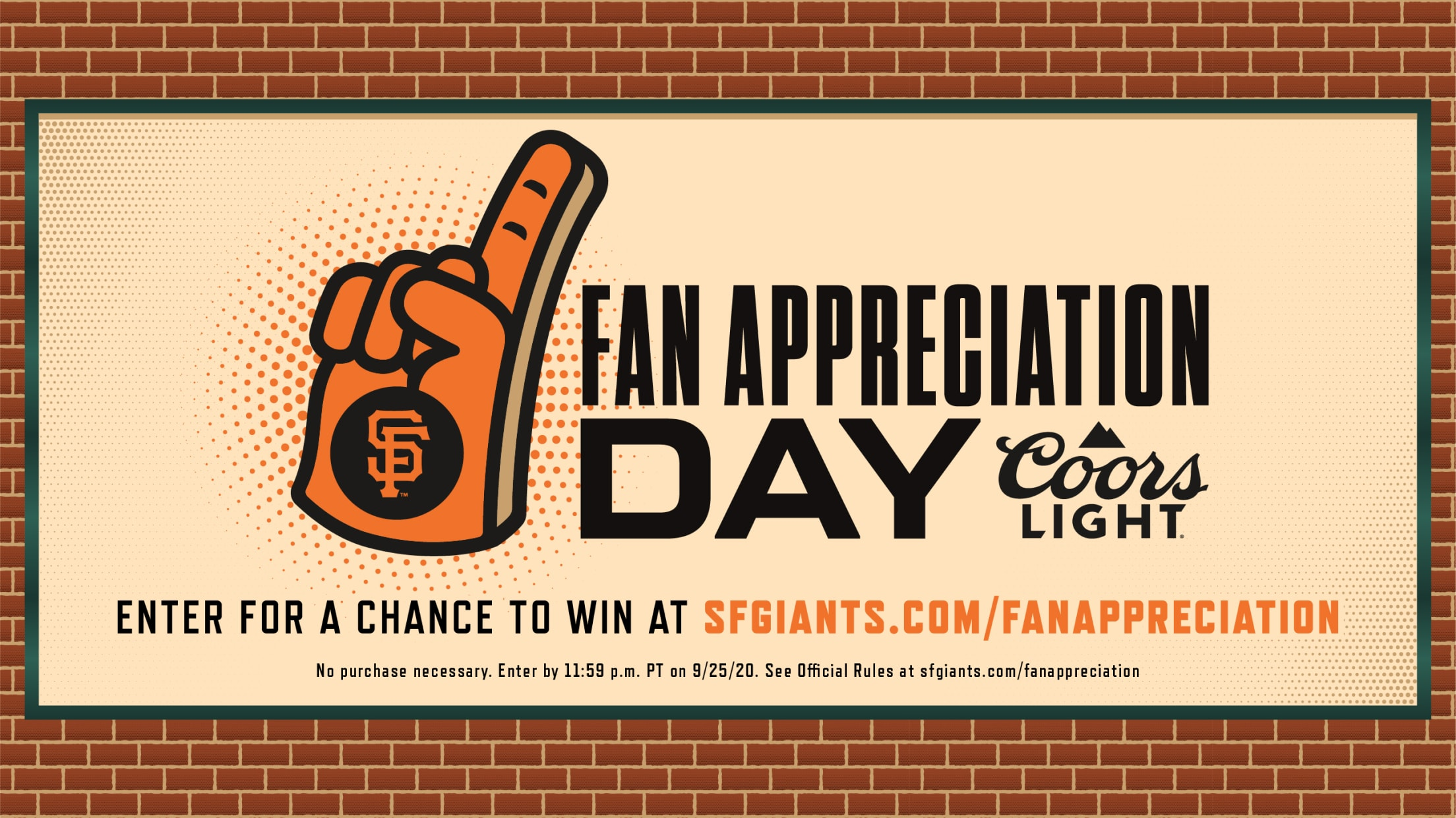 San Francisco Giants Fan Appreciation Sweepstakes