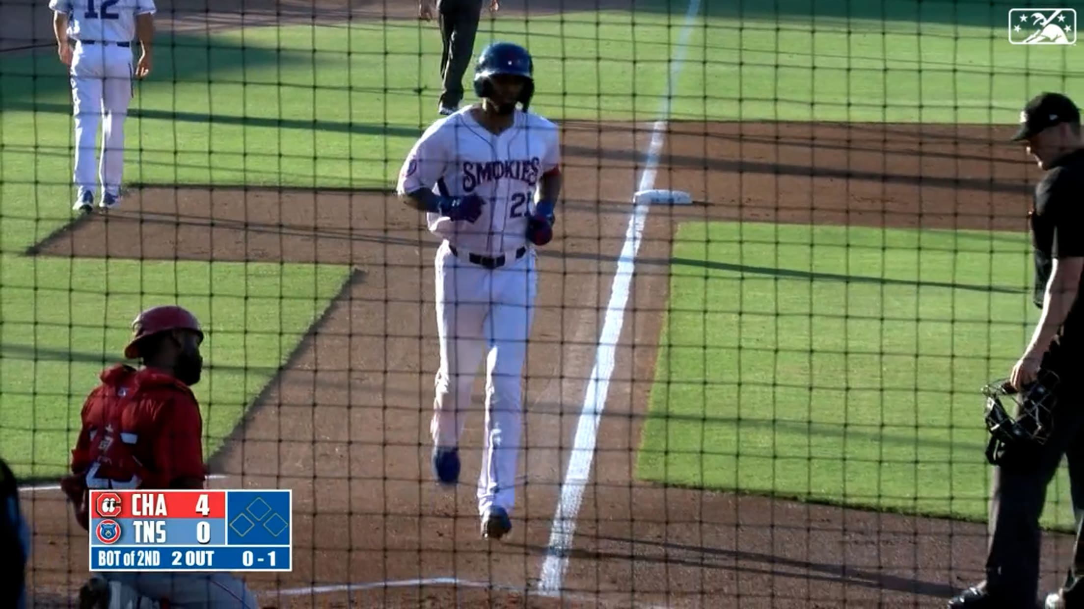 Davis hits first Double-A homer