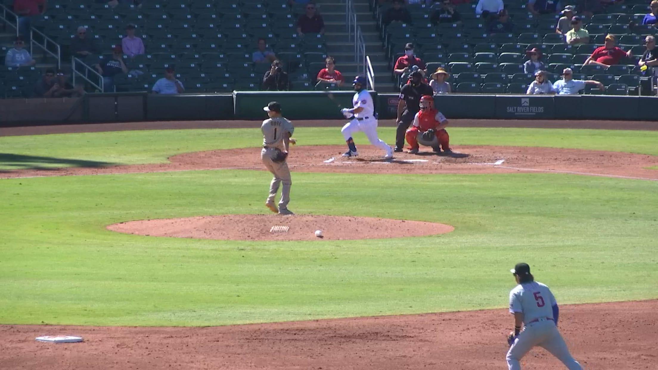 Carlos Cortes' three-hit game