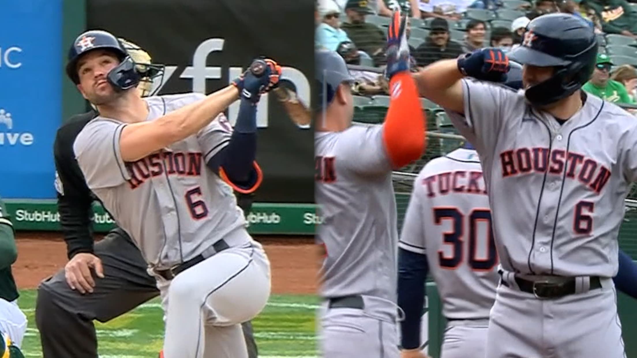 Chas McCormick's first home run