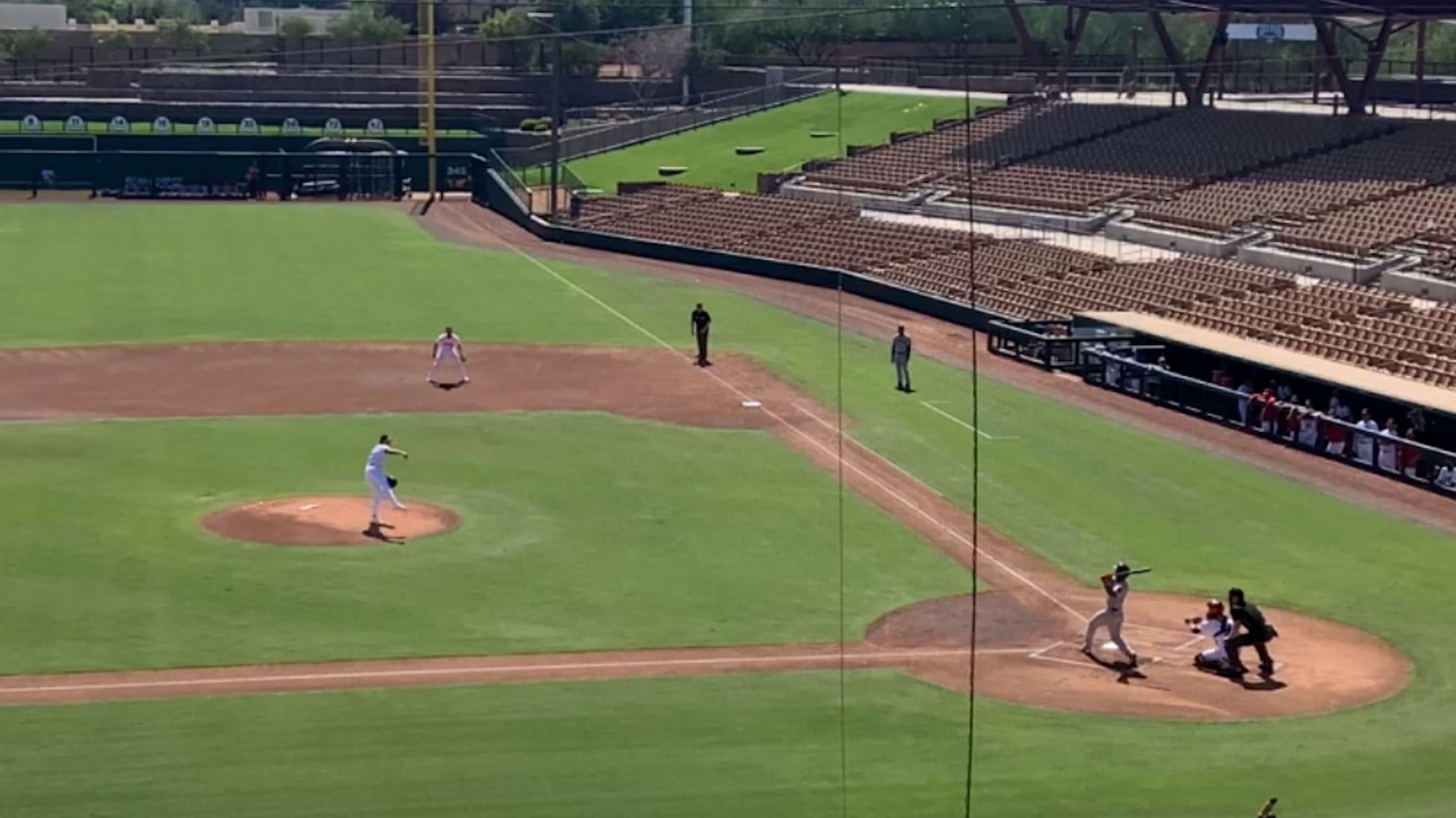 Jeter Downs' Fall League homer