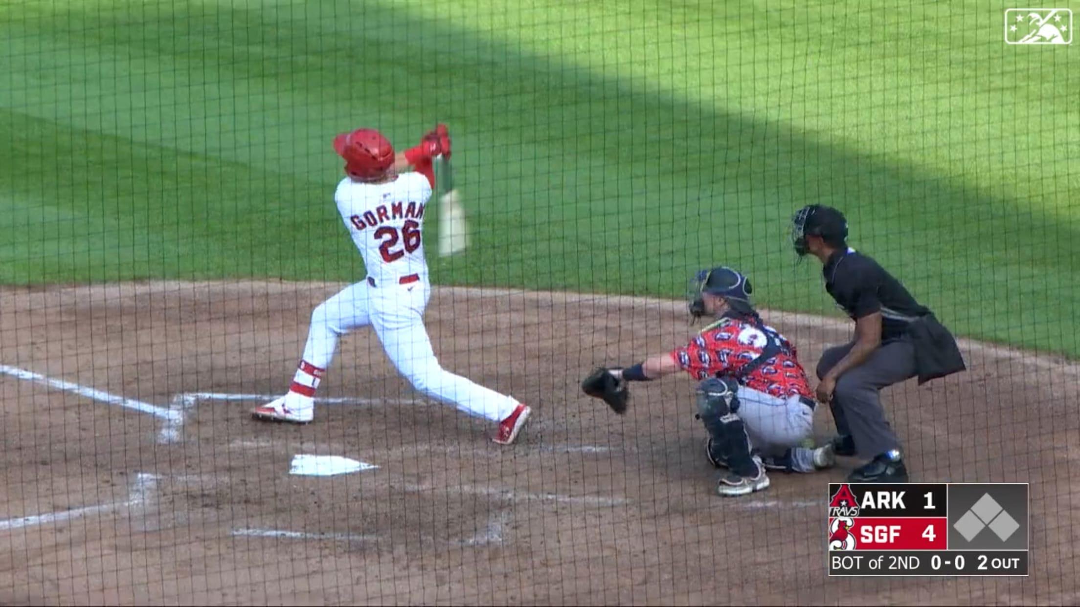 Gorman hits three homers