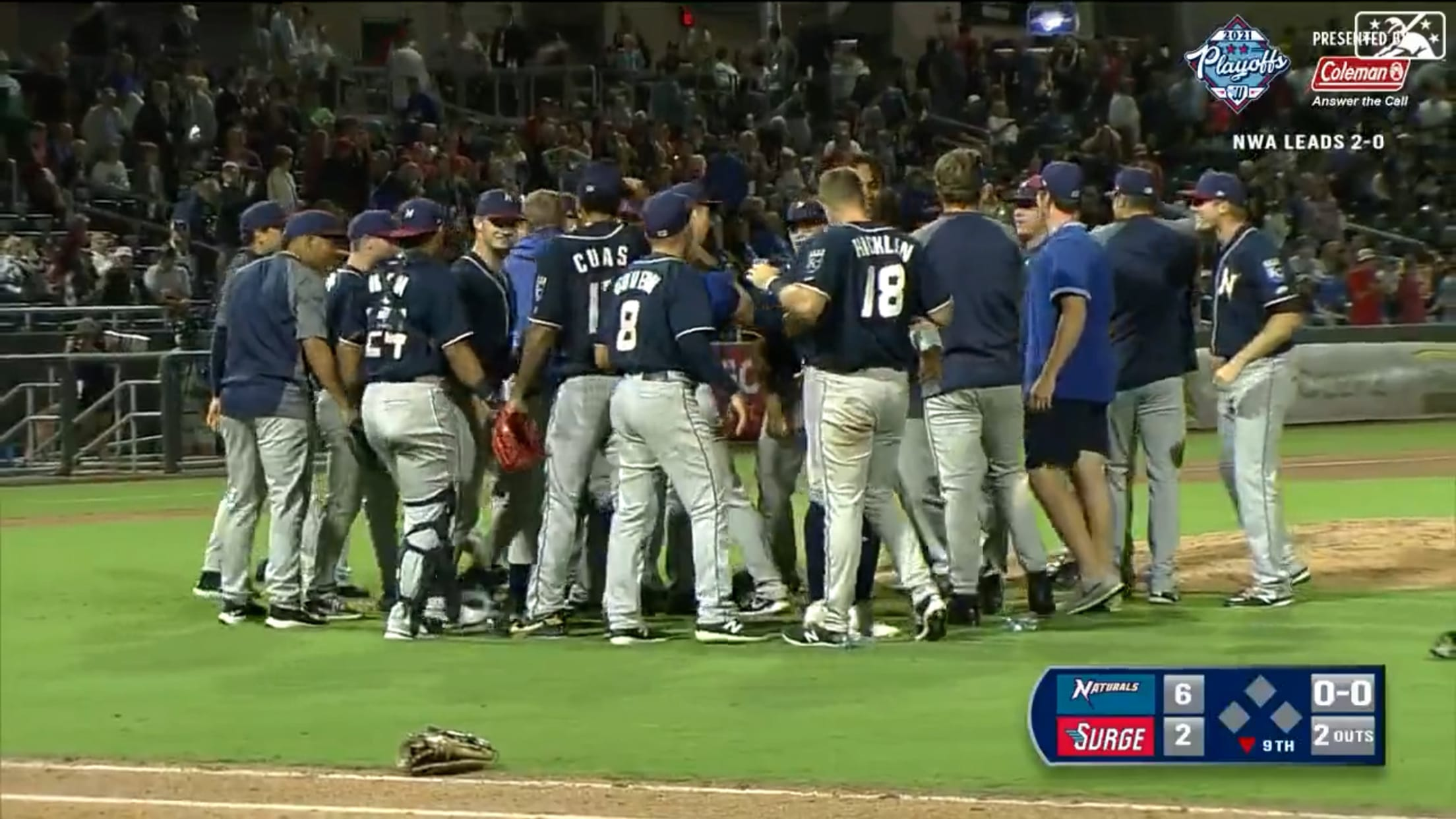 Naturals clinch Double-A Central