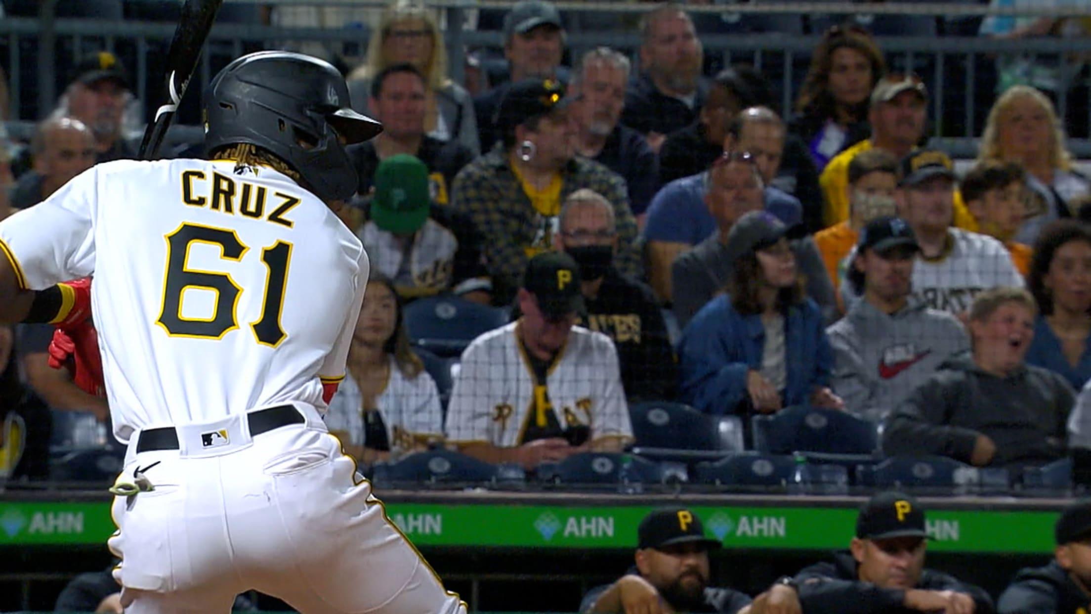 Oneil Cruz's first hit, RBI