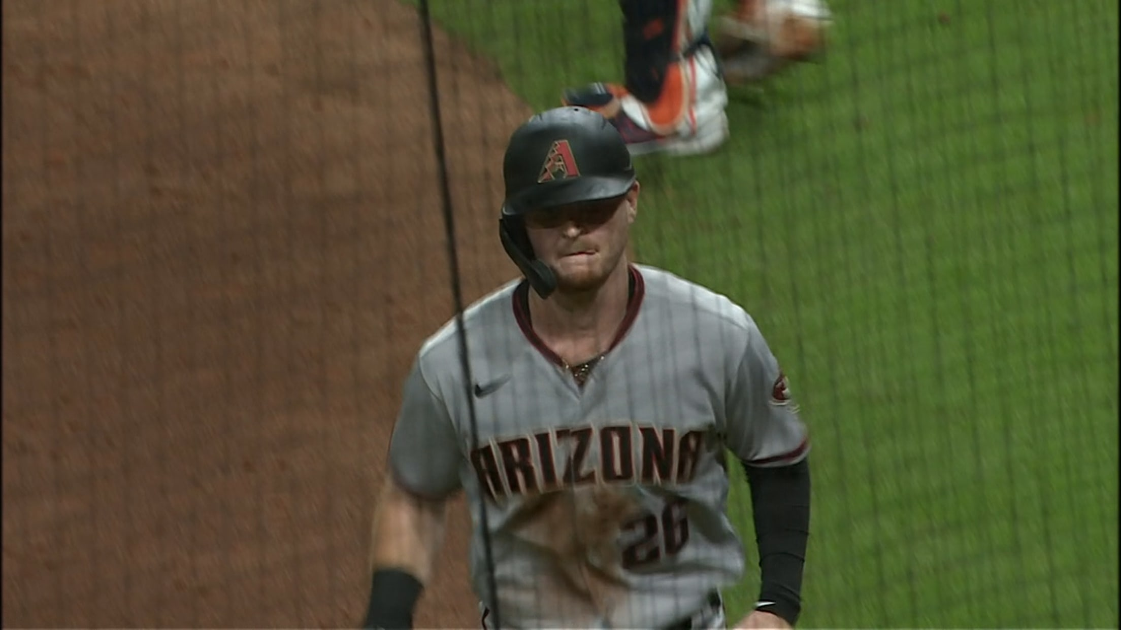 Pavin Smith scores on wild pitch