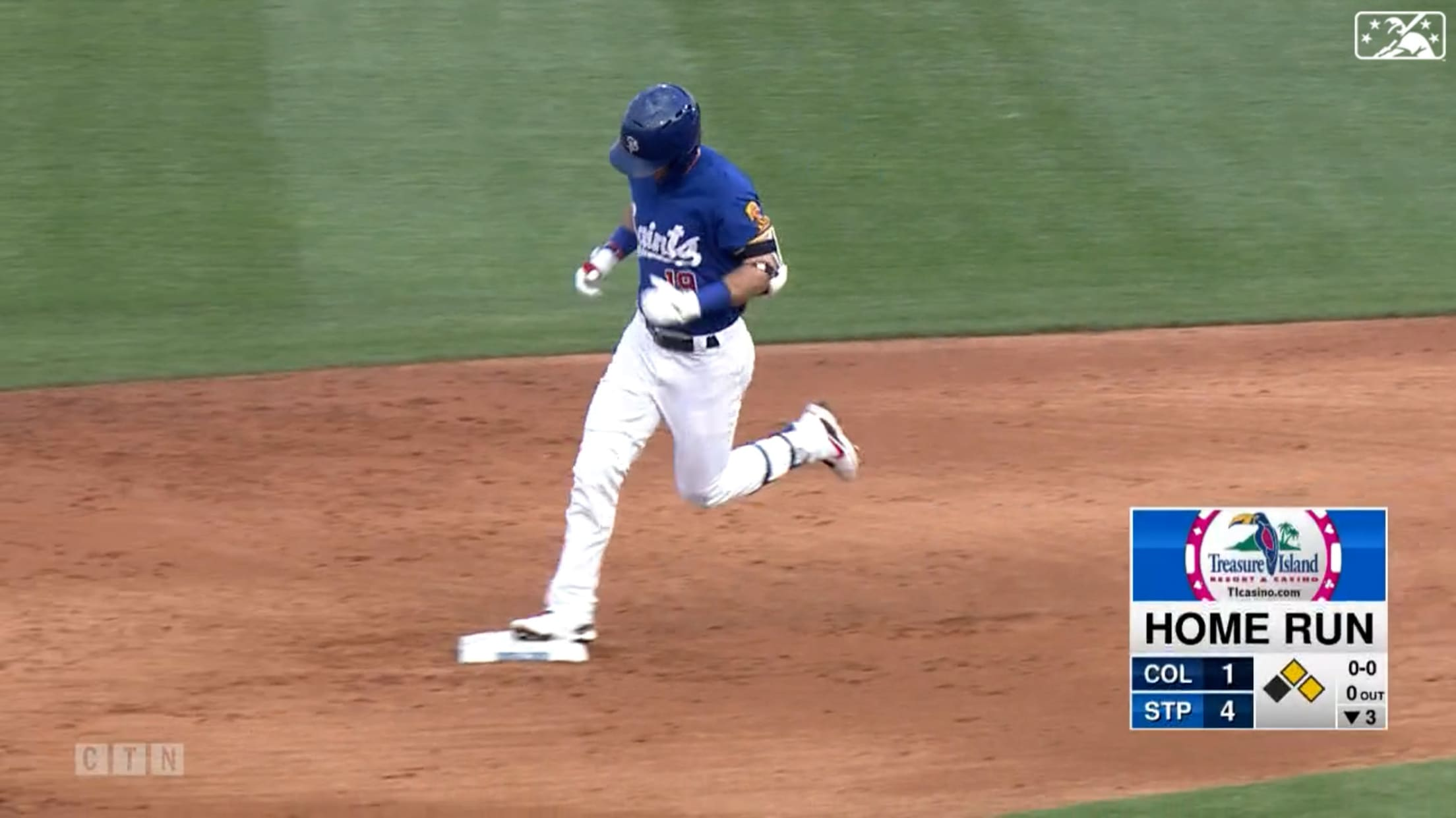 Rooker clubs three homers