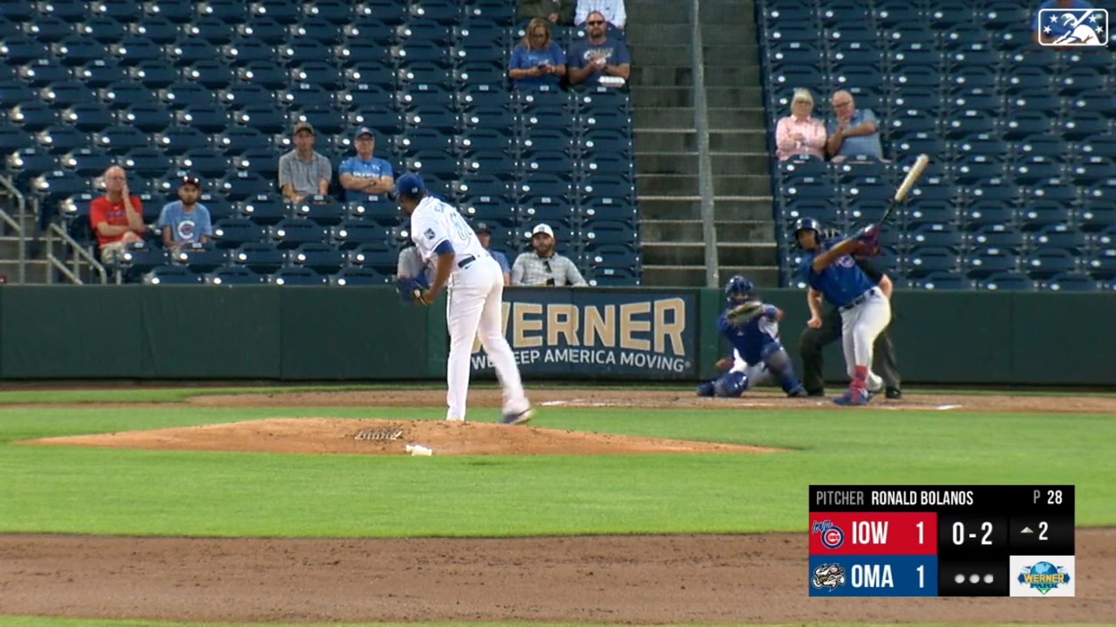 Davis homers in first Iowa at-bat