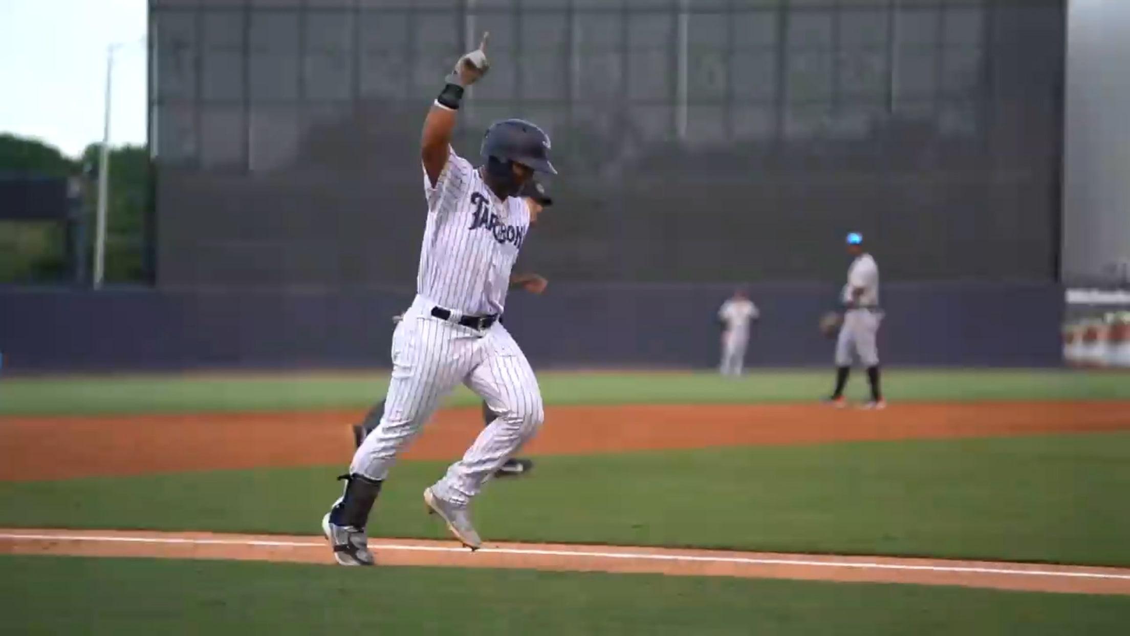 Dominguez swats first homer