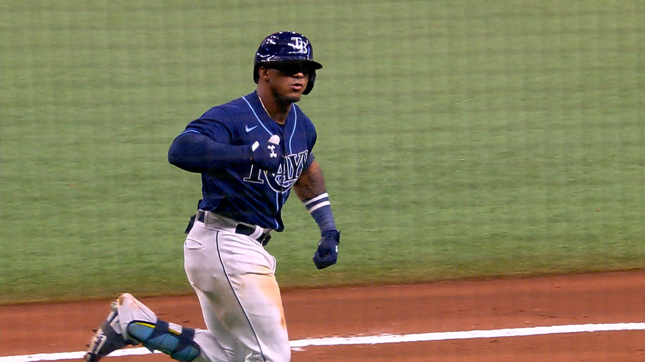 Wander Franco's first hit, homer