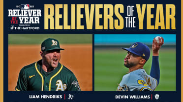 Hendriks, Williams named Relievers of Year