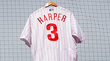 buy popular c0288 381ca Bryce Harper sets pro sports jersey sale record | MLB.com