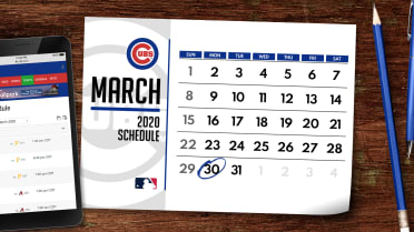 Chicago Cubs Home Opener 2020.Cubs 2020 Regular Season Schedule Mlb Com