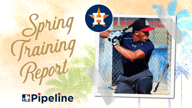 Astros Minor League Spring Training report